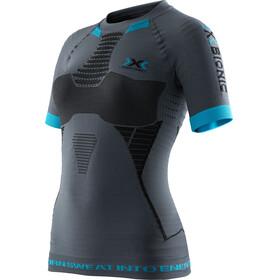 X-Bionic W's Effektor Workout Power Shirt SS Anthracite/Black/Turquoise